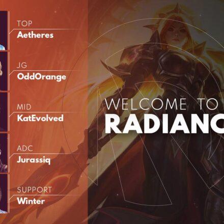 Radiance har offentliggjort deres LoL-roster