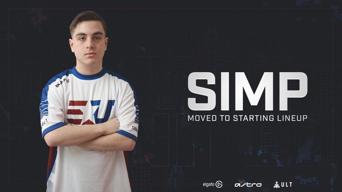 Simp erstatter JKap på eUniteds CoD-roster