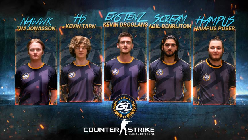 Team GamerLegion afslører nye CS:GO-roster